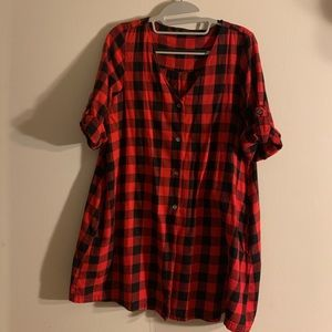Zara flannel dress